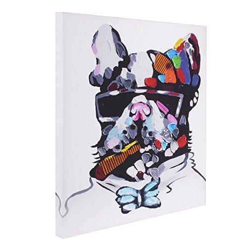 UNIQUEBELLA 50*50 LEINWAND BILDER! FERTIG AUFGESPANNT Leinwandbilder Ölgemälde Moderne Abstrakte Hund Leinwand Wand Kunst Dekor