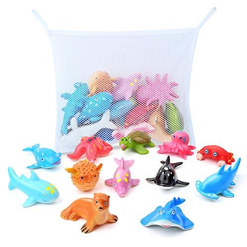 GizmoVine Juguete de Baño Animal Marino Juguetes para Niños Educativo Animal Figuras de Aprendizaje...