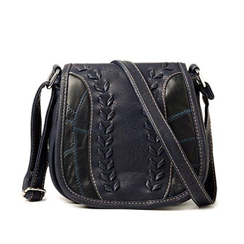 Retro Frauen Schulter Messenger Bag Kreuz Körper Tasche Mit Verstellbaren Schultergurt E