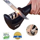 ANYOYO Messerschärfer dreistufig Manuelle Küche Messer schärfen Werkzeug für Reparatur, Wiederherstellung und Polieren Klingen, Rutschfest und ergonomisches Design Profi für All-Sized Haushalt Messer