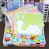 FlYHIGH 315PCS Montessori Set da Tavolo in Legno per Puzzle Set di Giocattoli educativi per Bambini conteggio numerico