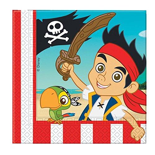 Amscan Serviettes Jake & Pirates Neverland (Lot de 20)