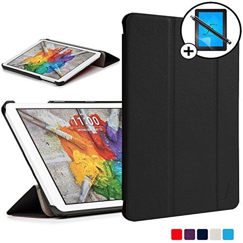 Forefront Cases® LG G Pad 3 8.0 V525 / LG G Pad X 8.0 V520 Hülle Schutzhülle Tasche Case Cover Stand - Ultra Dünn und Leicht mit Rundum-Geräteschutz inkl. Eingabestift und Displayschutz (SCHWARZ)