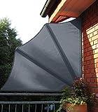 Leco Balkonfächer, Anthrazit, Schenkellänge je ca. 140 cm