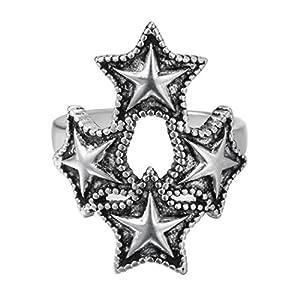 Chandler Versilberter Schmuck Dreiecks-Sterne-Ringe Pentagramm Hochzeit Verlobungsringe 2017 Vintage Zubehör