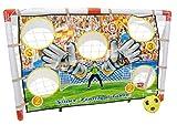 Set de portería diana de fútbol para niños - Tamaño ideal - 120 cm de ancho x 80 cm de alto