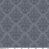 ANRO Wachstuchtischdecke Wachstuch Wachstischdecke Tischdecke abwaschbar Grau Anthrazit Rankenmuster Barock Arabeske 200 x 140cm - 2
