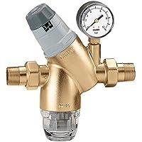 Caleffi Reductor de presión con cartucho monobloque extraíble 1 Pulgada DN25 Reductor de Presión de Agua con Cartucho de Filtro y Manómetro, Válvula Reductora de Presión, Regulador de Presión 535161