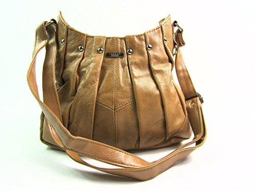 Damen Neu Hohe Qualität Weiches Leder Handtasche Schulter bag Hellbraun