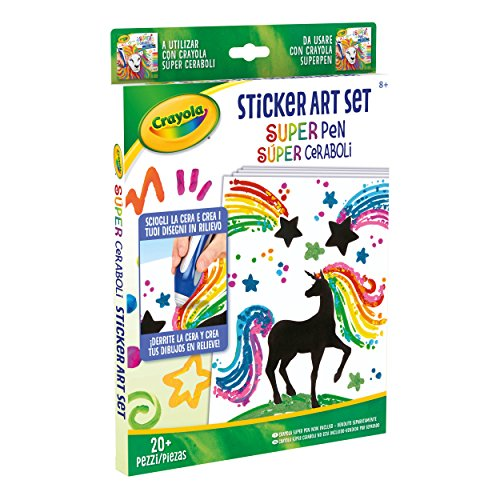 CRAYOLA Sticker Art Set Ricarica da Usare Super Pen, 04-0493
