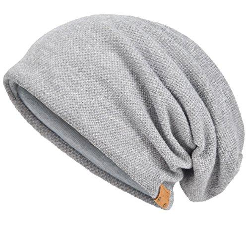Herren Baumwolle Mütze Strickmützen Slouch Beanie Schädel Cap Winter Sommer Hüte (Blass)