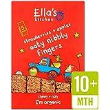 Cuisine bio fraises et pommes de Ella Nibbly Fingers 5 x 25g