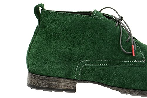 Think!Think Denk Schuhe grün Velour - 780 - Pantofole a Stivaletto Donna Verde (verde)