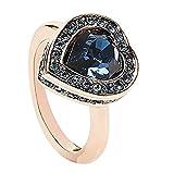 Guess Damen-Ring Herz Messing Glas weiß Gr. 54 (17.2) - UBR28509-54