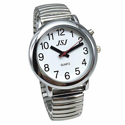 VSONE Reloj parlante analógico con alarma, anuncio de fecha y hora en francés para ciegos y discapacitados...
