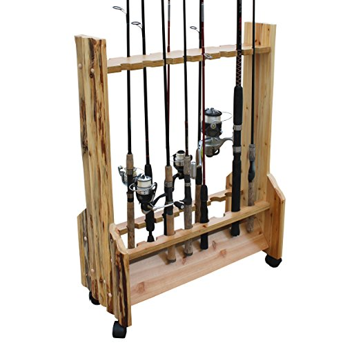 Rush Creek Log Cabin Stil 16-rod Rolling Rack - Stil-log-rack