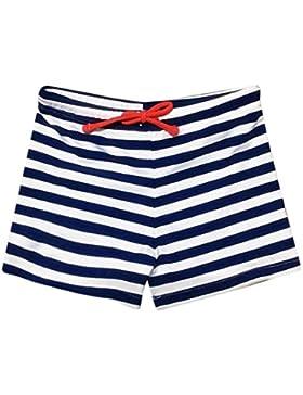 QinMM Bañador para Niño, Pantalón Traje de Baño Rayado Elástico Natación