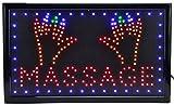 Massage LED Schild Leuchtschild XXL Reklame Leuchtreklame Werbung Display Sign