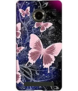Clarks Printed Back Cover Case For Micromax Yu Yuphoria