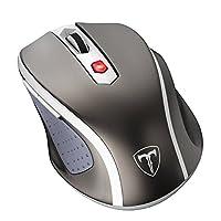 VicTsing Mini Schnurlos Maus Wireless Mouse 2.4G 2400 DPI 6 Tasten Optische Mäuse mit USB Nano Empfänger Für PC Laptop iMac Macbook Microsoft Pro, Office Home- Grau