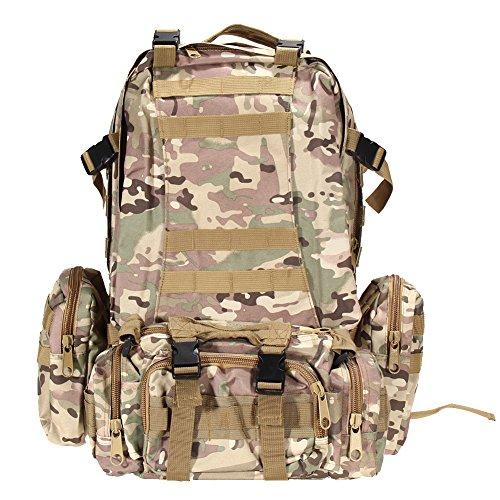 Broadroot da escursionismo borsa zaino sacchetto Fit per campeggio viaggio ciclismo caccia pesca scuola, Black CP