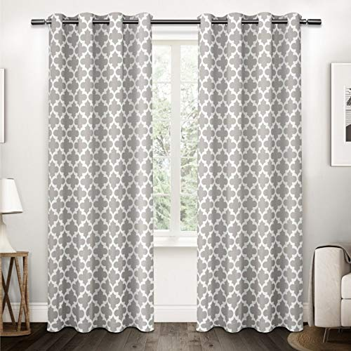 Exclusive Home Curtains Neptune, Baumwolle, Vorhang-Panel, Baumwolle, Wolkengrau, 54x108