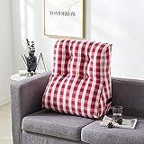 LSQ Triangolo Cuscino Tridimensionale Cuscino per Il Tempo Libero Cuscino per Il Letto,Red,45 * 55CM
