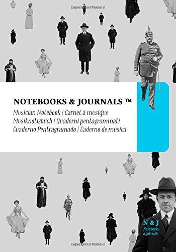 Quaderni Pentagrammati Notebooks & Journals, Persone (Vintage Collection), Extra Large: Soft Cover (17.78 x 25.4 cm)(Taccuino appunti,Taccuino di viaggio)