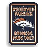 Fremont Die NFL Baltimore Ravens Kunststoff Parken Schild, Unisex, 90232, Denver Broncos, 12 x 18