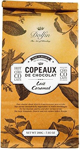Dolfin Trinkschokolade-Flocken Karamell Beutel 200 g