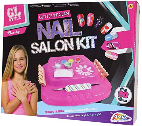 GL Style Glitter 'N' Glam Kit de salon à ongles Rose