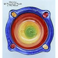 Posacenere Realizzato e dipinto a mano Le Ceramiche del Castello Idea Bomboniera dimensioni 15 x 5 centimetri