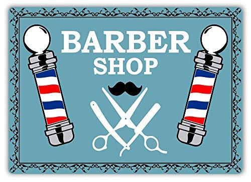 Sary buri Barber Shop Poles Hair Cut Beard Style Pattern Old Wandkunst Garage Club Bar Dekoration Old Style Bier