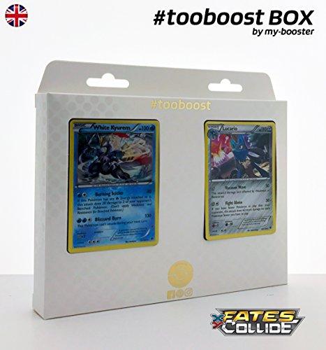 Coffret #tooboost WHITE KYUREM (Kyurem Blanc) et LUCARIO - XY10 - 10 cartes Pokemon anglaises