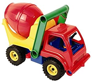 Lena 04153 vehículo de Juguete - Vehículos de Juguete, Camión, De plástico, Concrete Mixer, Interior / Exterior, 2 año(s)
