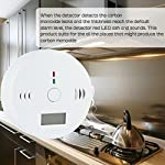 CO Detector, SOONHUA Carbon Monoxide Alarm LCD Portable Security Gas CO Monitor from SOONHUA