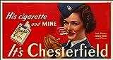 Herbé ™ Poster/Reproduction 50x70cm (Image 50x70cm sur Papier 60x80cm) d'1 Affiche Vintage/Rétro PUBLICITé Cigarette Chesterfield