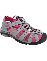 PDQ- Sandalias deportivas con cordón y cintas con velcro para mujer