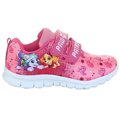 Pawpatrol Mädchen Sneaker Schuhe Halbschuh Klettverschluss Fuchsia/pink Gr.25-32 (28)