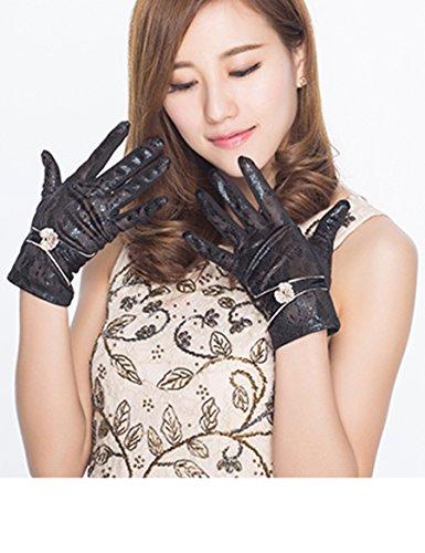 Section mince féminine de gants de protection solaire Gants anti-UV Gants de camouflage d'été à ressort ouvert ( Couleur : 5 ) 1