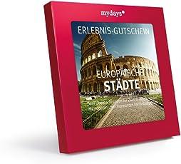 mydays Hotel-Gutschein EUROPÄISCHE STÄDTE   2 Übernachtungen Inklusive Frühstück 2 Personen   Geschenkidee für Paare   Inklusive Geschenkbox