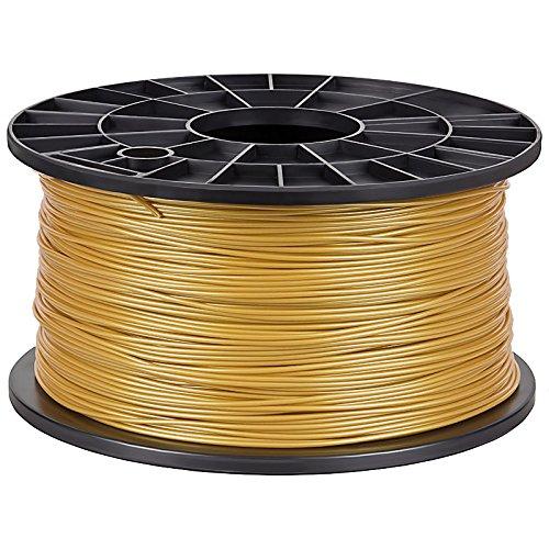 NuNus ABS Filament 1KG (1,75mm, Gold) Premium Qualität für 3D Drucker MakerBot RepRap MakerGear Ultimaker uvm