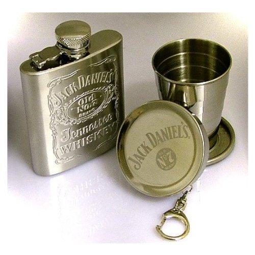 Jack Daniel 's Flachmann mit zusammenklappbaren Cup -