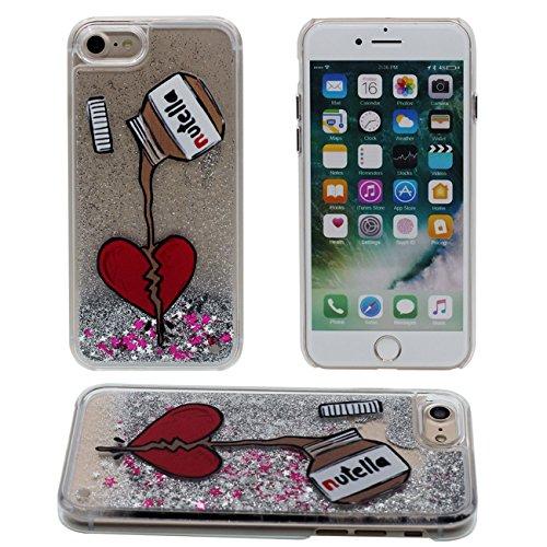 iPhone 7 Plus Coque, Créatif Motif Charmant Chat Et arbre coloré Flowable Eau Étoiles Dur Clair Plastique Transparent Housse de Protection Case pour Apple iPhone 7 Plus 5.5 inch color-1