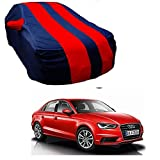 MotRoX Car Body Cover For Audi A3 with Side Mirror Pocket (Red & Blue)