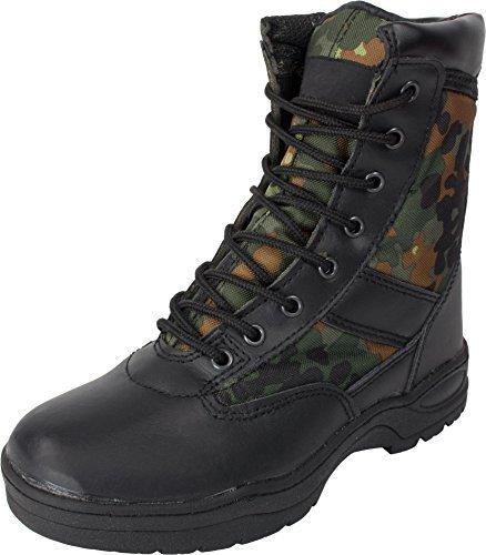 McAllister Outdoor Boots Stiefel Einsatzstiefel Wanderstiefel Trekkingstiefel (Flecktarn/47)