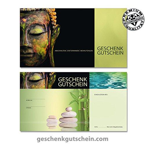 """25 Stk. Gutscheinkarten """"Standard"""" für Physiotherapie, Wellness, Spa MA1231, LIEFERZEIT 2 bis 4 Werktage !"""