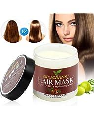 Masque Cheveux, Masque réparation intense pour cheveux, Après-Shampoing, huile d'argan&100% Huile de Jojoba & Kératine, Répare les Cheveux Secs, Abîmés ou Colorés, Adapté à Tous Types de Cheveux, Sans Sulfates, 200ml