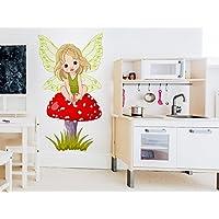 """WAS-11377 Kinderzimmer Wandtattoo /""""Fliegenpilz im realen Design/'/'"""