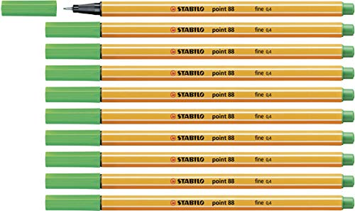 Fineliner - STABILO point 88 - 10er Pack - grün